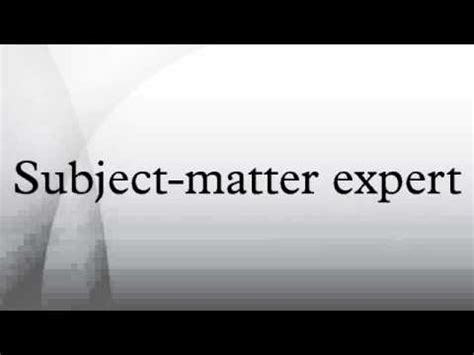 Working With Subject Matter Experts: The Ultimate Guide